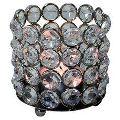 Crystal Votive Holder in Nickel - Wholesale Event Solutions