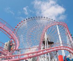 A pink roller coaster.  I'm there!