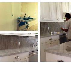 WORK IN PROGRESS: CUSTOM KITCHEN DESIGN #Renovation #CustomKitchen #KitchenDesign #Cabinetry #Millwork #WalkerZanger #Backsplash #TileDesign #WhiteKitchen #CondoLiving #DesignInspiration #Design #RealEstate #PalmBeach #Florida #KristiLeiInteriors Design by Kristi Lei Interiors by kristi_lei_interiors