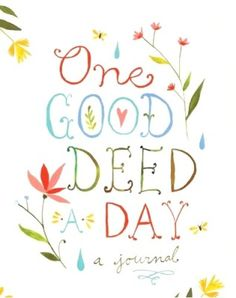 one good deed a day journal book