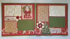DECK THE HALLS, Christmas Scrapbook Page, Christmas Scrapbook, Christmas Page, Winter Scrapbook, 12x12 Page, Premade Scrapbook Page