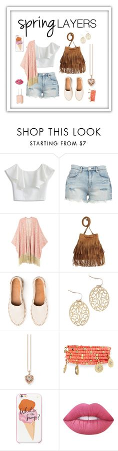 """Spring layers"" by wobblywalrus ❤ liked on Polyvore featuring Chicwish, BLANKNYC, Melissa McCarthy Seven7, H&M, Thomas Sabo, Emily & Ashley, Kate Spade, Lime Crime, Essie and cutecardigan"