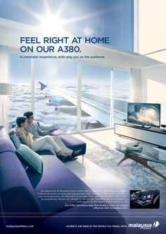 Malaysia Airline - Feel right at home by JamieToh , via Behance Ads Creative, Creative Posters, Creative Advertising, Advertising Design, Property Ad, Real Estate Ads, Advertising Photography, Social Media Design, Advertising Poster