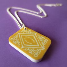 Custard Cream Mini-Charm Necklace, made in the UK by Nikki McWilliams