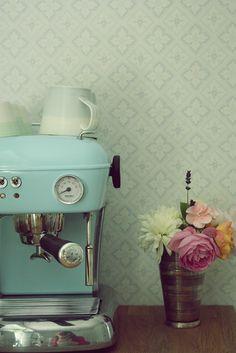 Light blue expresso machine -   #Blue #expresso #Light #Machine #interiordesign #interior #design #art #diy #home