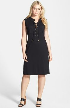 f4012aa0615 Vince Camuto Lace Up Maxi Dress (Plus Size)