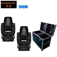 1216.00$  Watch now - http://alin11.worldwells.pw/go.php?t=32357206698 - 2IN1 Flightcase Pack 180W High Power Led Moving Head Light 17CH DMX LED Moving Yoke 3-Facet Rotating Prism Electronic Strobe 1216.00$