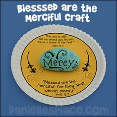 Blessed are the Merciful Paper  Plate Rock Craft from www.daniellesplace.com
