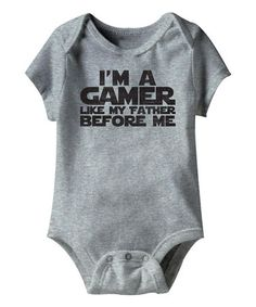 This Gray Heather \'Gamer Like My Father\' Bodysuit - Infant is perfect! #zulilyfinds