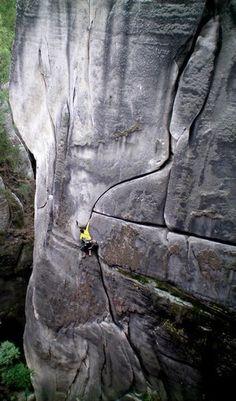 Sandstone Crack-climbing