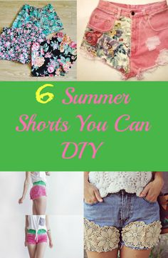 It's the perfect weather to wear shorts!  Get crafty by making your own DIY summer shorts! See tutorials now ------> http://www.discountqueens.com/6-summer-shorts-you-can-diy/