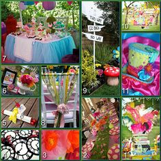 Mad Hatter Tea Party Decor  http://www.disneydonnakay.com/2012/05/disney-party-boardsmad-hatter-tea-party.html
