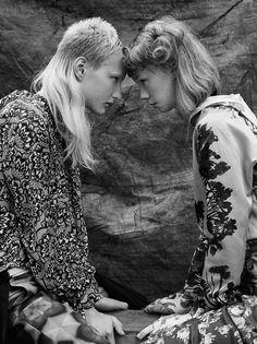 Vogue Italia october 2016 models Litay & aniek klapwijk photo David dunan styling Elisa Zaccanti make up Karin Westerlund hair Nicolas Jurnjack