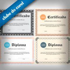 Modelos Certificados e Diplomas | Clube do Corel