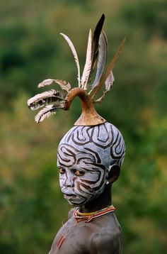 Portrait by Hans Silvester - tribal boy in Ethiopia
