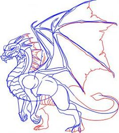 how to draw a dragon step by step step 6