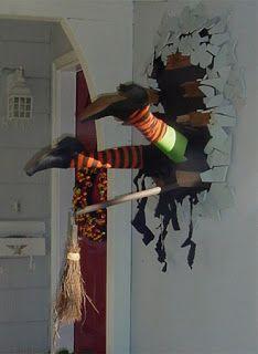 La Casa de Halloween: Decoración: Bruja estrellada en la pared