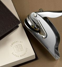 """""""Library of..."""" Custom Embosser: I have always wanted one of these. For now, I'll just keep writing my name and the date in all of my books. I Love Books, Books To Read, My Books, Cool Books, Music Books, Book Nerd, Book Club Books, Beautiful Library, Personal Library"""