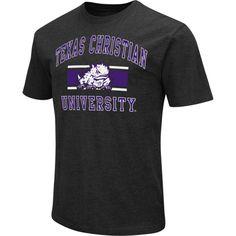 Colosseum Athletics Men's TCU Horned Frogs Black Dual-Blend T-Shirt, Size: XL