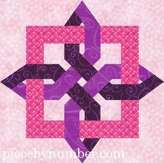 Quilting: Lugano Clover paper pieced quilt block 12in