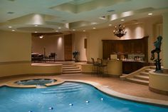 super indoor pool / spa other view