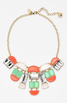 kate spade new york 'varadero tile' mixed stone statement necklace available at #Nordstrom