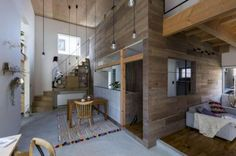 Faburkolat a nappaliban - nappali ötlet, modern stílusban
