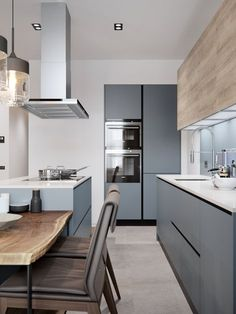Modern Gray Kitchen Cabinets For The Home Pinterest
