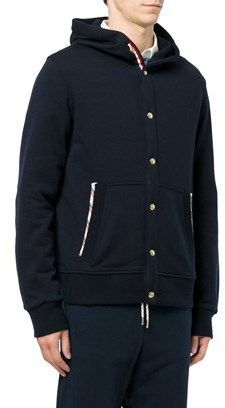 Moncler Gamme Bleu Men's Blue Wool Jacket.