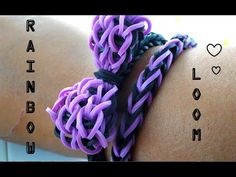 Ƹ̴Ӂ̴Ʒ Création : Rainbow Loom Bracelet Noeud papillon Ƹ̴Ӂ̴Ʒ - YouTube