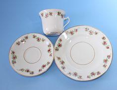 BLYTH Diamond China. Trio, Cup Saucer and Plate    c1913~1935