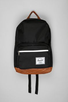 Herschel Pop Quiz backpack. I'm rather fond of the pared-down heritage look (especially the leather bottom).