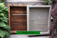 Transform pallets into rustic trays, in your choice of stain.