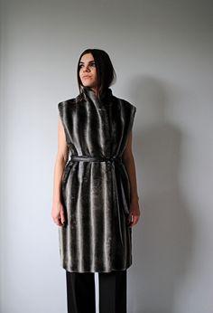 Faux Fur-Leather Belt