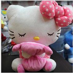 Nova chegada do bebê toy 18 cm plush cat kawaii olá Kitty brinquedos de pelúcia menina dos desenhos animados boneca bonecas animal brinquedos de dormir Kitty