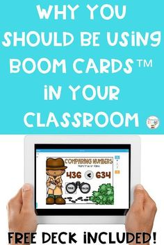 Boom Cards are an easy way to go digital in your elementary classroom! These digital task cards require no cutting, laminating, or storing. Your students will have so much fun practicing their skills! Use in small group stations or whole class - you will never go back to regular task cards again! #elementaryisland #boomcards #digital