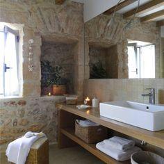 Casa Porto Saler. Formentera. 2000 : Baños de estilo rústico de Deu i Deu