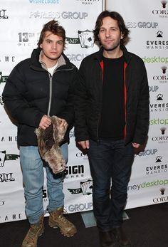 Paul Rudd and Emile Hirsch attend 13th Sign Pictures, MPIC Events & Wishclouds Celebrity Charity Poker Tournament at The Everest Mansion powered by Saygus Vphone LTE on Jan.19, 2013 in #ParkCity, Utah.