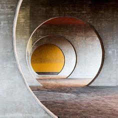 Housing complex, by Mario Botta, 1988-1993   Novazzano, Switzerland