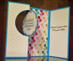 Flip card using Stampin' Up! Bring on the Cake Stamp Set and Circle Card Thinlits Die
