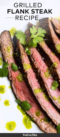 Perfect your grilling skills with this foolproof steak recipe served with a bright herb purée.