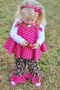 Girls baby Toddler Twirl Top and pants Custom  by NanaJustbananas, $55.00