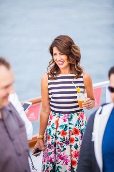 Love mixed patterns. Setting Sail in Stripes & Floral - Jillian Harris