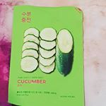 @holikaholika_official pure essence mask sheet cucumber ~ contains: centella asiatica, panthenol, cucumber, aloe vera  dosen't contain: alcohol, silicones, sulfate and parabens😊 fit: thin mask filled with essence, the sheet is a little too small for my face as it doesn't cover the sides. Results: skin feels smooth and hydrated after use😊 #jolse #beautyblogger #beauty #sheetmask #koreanskincare #koreanbeauty #skincare #sheetmaskreview #kbeauty #skincareaddict Centella, Sheet Mask, K Beauty, Korean Skincare, Korean Beauty, Aloe Vera, Cucumber, Feels, Alcohol