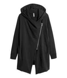 Hooded Sweatshirt Cardigan   Black   Ladies   H&M US