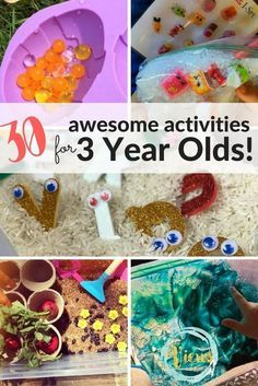 From science and sensory play to arts & crafts, these are some really awesome activities for 3 year olds as they develop motor skills and learn rapidly!