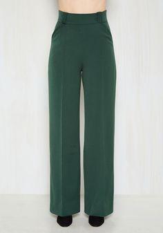 Complementing Confidence Pants in Pine   Mod Retro Vintage Pants   ModCloth.com