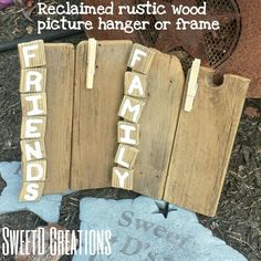 Rustic reclaimed wood frame with family and friends by SweetD Creations