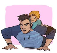 goingloco: Only judging from the lil we saw, Craig is my fav dad. Working out with baby River. I haven't been this excited for a game in a while. Craig Dream Daddy, Dream Daddy Game, Dream Daddy Fanart, Craig Cahn, Geek Out, Dad Jokes, Kawaii, My Daddy, Best Dad
