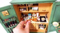 종이로 만드는 미니어처 - 주방팬트리 Free Standing Kitchen Pantry & pantry cabinet